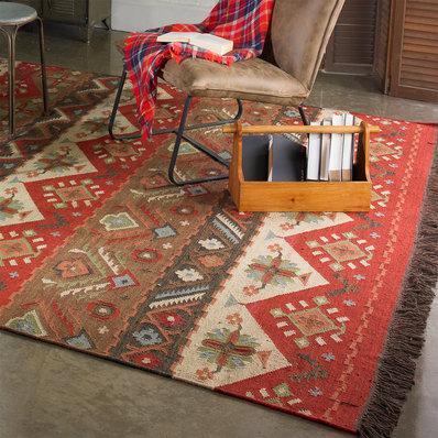 dhurrie rugs native blanket flatweave wool kilim rug GVVPYCO