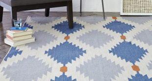 dhurrie rugs phoenix wool dhurrie rug - regal blue RYBZONX