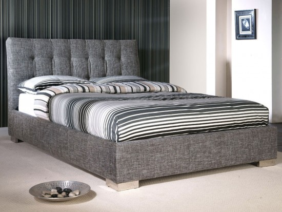 double bed frames captivating double bed frame in limelight ophelia grey fabric 4ft6 morale  home YQPVYWL