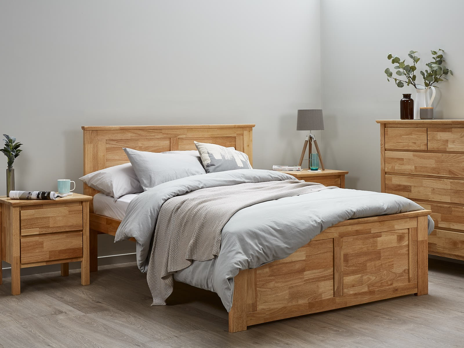 double bed frames fantastic hardwood double bed frame - natural XIORNJS