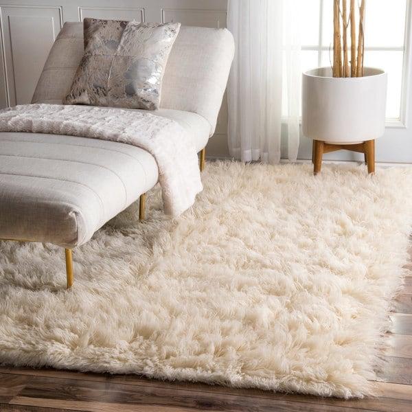 flokati rug nuloom hand-woven flokati wool shag rug (5u0026#x27; ... MMFIDRJ