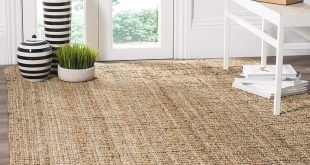 floor rugs amazon.com: safavieh natural fiber collection nf447a hand woven natural  jute area rug YUIIEJS