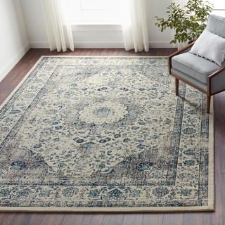 floor rugs safavieh evoke grey/ ivory rug (8u0027 x ... IAXNXCK