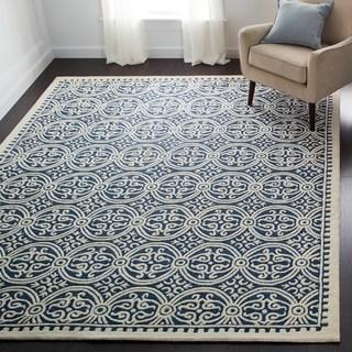 floor rugs safavieh handmade moroccan cambridge navy blue wool rug ABFEEMM
