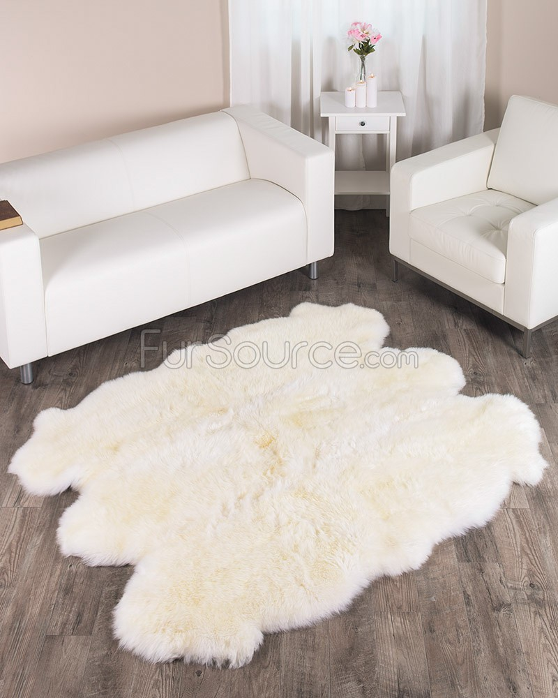 Fur rug in the house