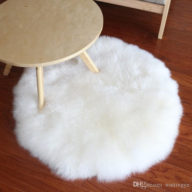 Fur rug real sheep fur rug for home deco, sheepskin fur throw for furniture SKZGAAP