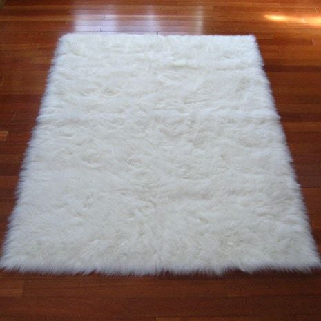 Fur rug snowy white polar bear rectangular white sheepskin faux fur rug - 3u0026#x27;3 UUWTQRY