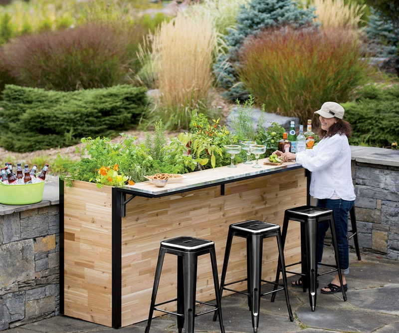 Garden bar outdoor garden bar and patio planter serves up the fresh CFMDAVM