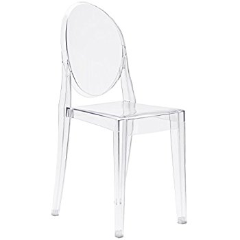 ghost chairs poly and bark burton side chair, clear EVNHEIZ