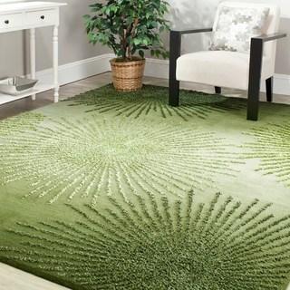green rug safavieh handmade soho burst green new zealand wool rug - 5u0027 ... VHOIQAW