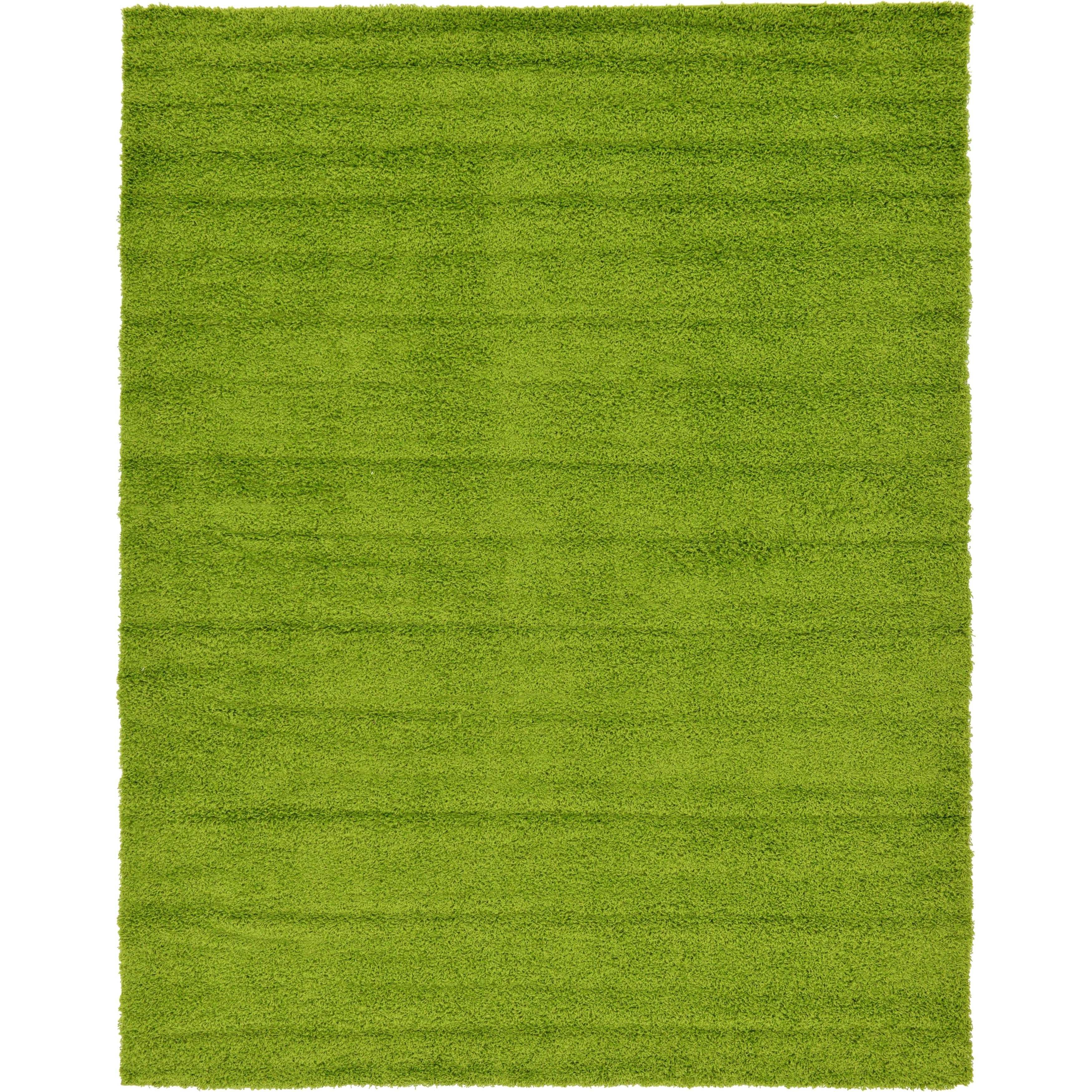 green rug unique loom solid shag area rug - 9u0027 x 12u0027 (option: grass TMDFSMW
