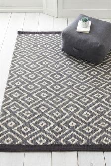 Grey rugs geo diamond rug PKUFCPZ