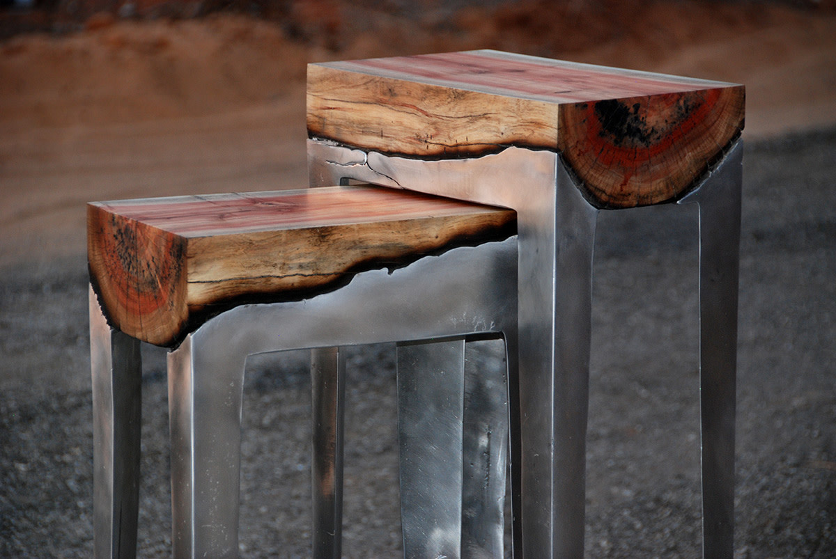 handmade furniture stunning-furniture-fuses-metal-and-wood-together-1 XDQXPHO