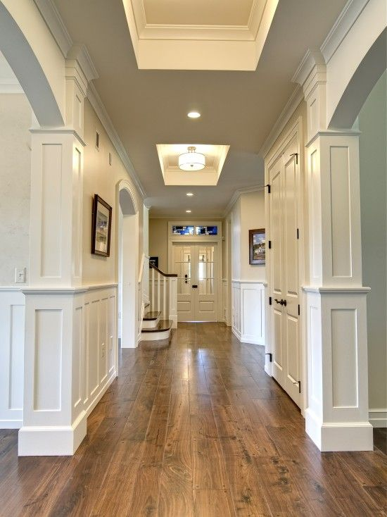 hardwood floor ideas walnut hardwood floors against white walls and doors - beautiful GFAUWJJ