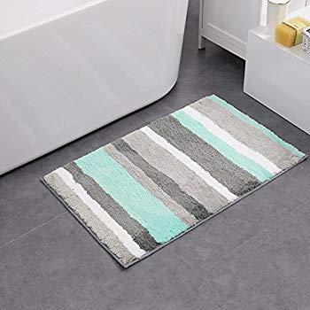 hebe non-slip bathroom rug mat shag microfiber shower bath rug absorbent bath WTEHPVH