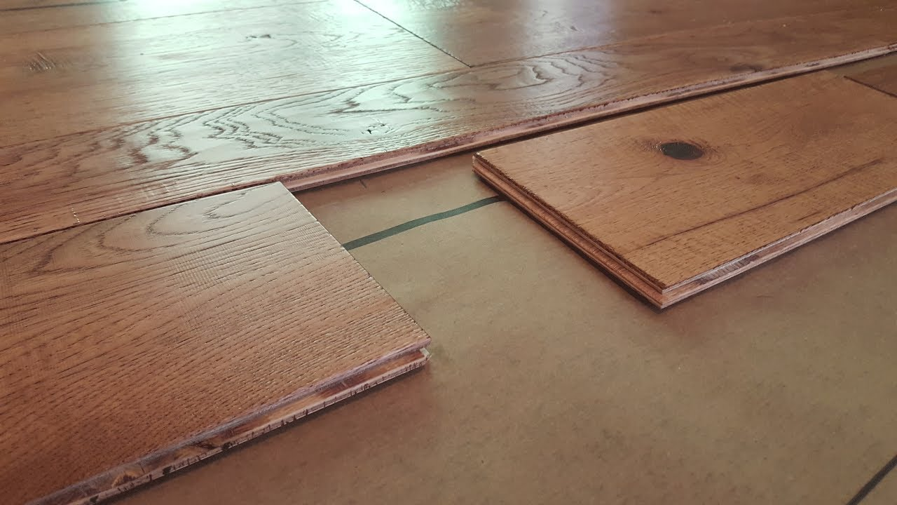 how to install engineered hardwood flooring SEJFTTB
