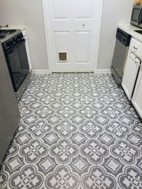 how to paint linoleum flooring SHETRXB