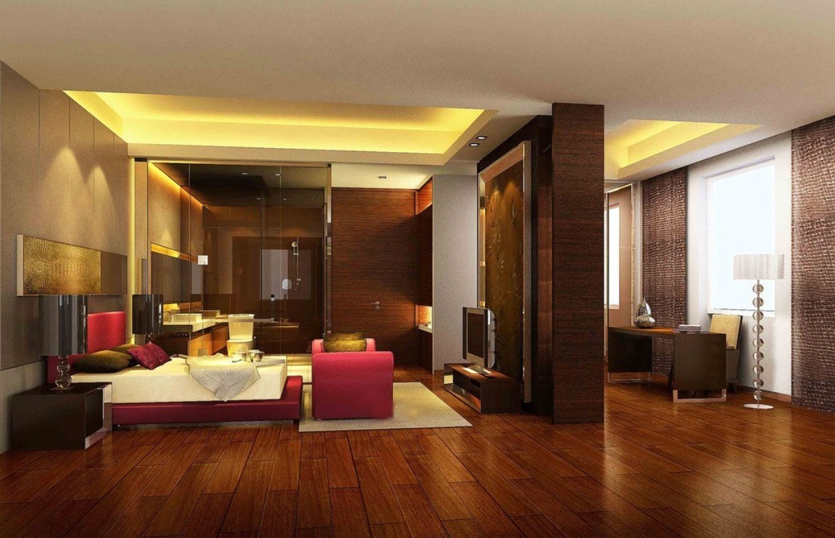 image of: hardwood floors in bedroom home decorating ABUYMJI