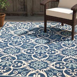 Indoor outdoor rugs groveland navy indoor/outdoor area rug RXHYSJO