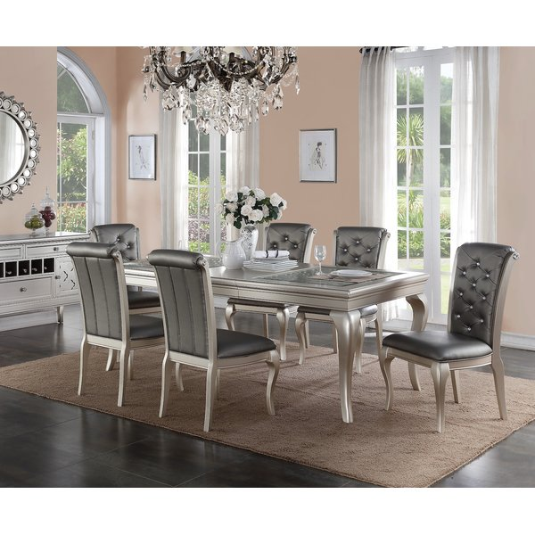 infini furnishings adele 7 piece dining set u0026 reviews | wayfair YTYKEZE
