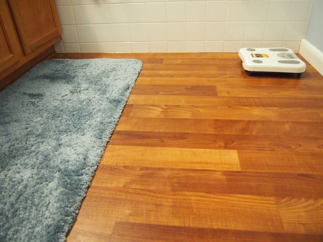 introduction: bathroom linoleum flooring replacement project BUQWQWV