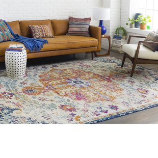 jahiem saffron/blue area rug JOXDAYA