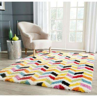 kids area rugs kids shag ivory/multi 8 ft. x 10 ft. area rug NSKPZFQ