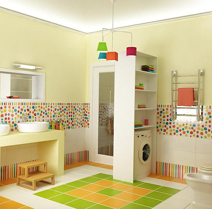 Kids Bathroom bright and spacious bathroom interiors for kids BLATRLJ
