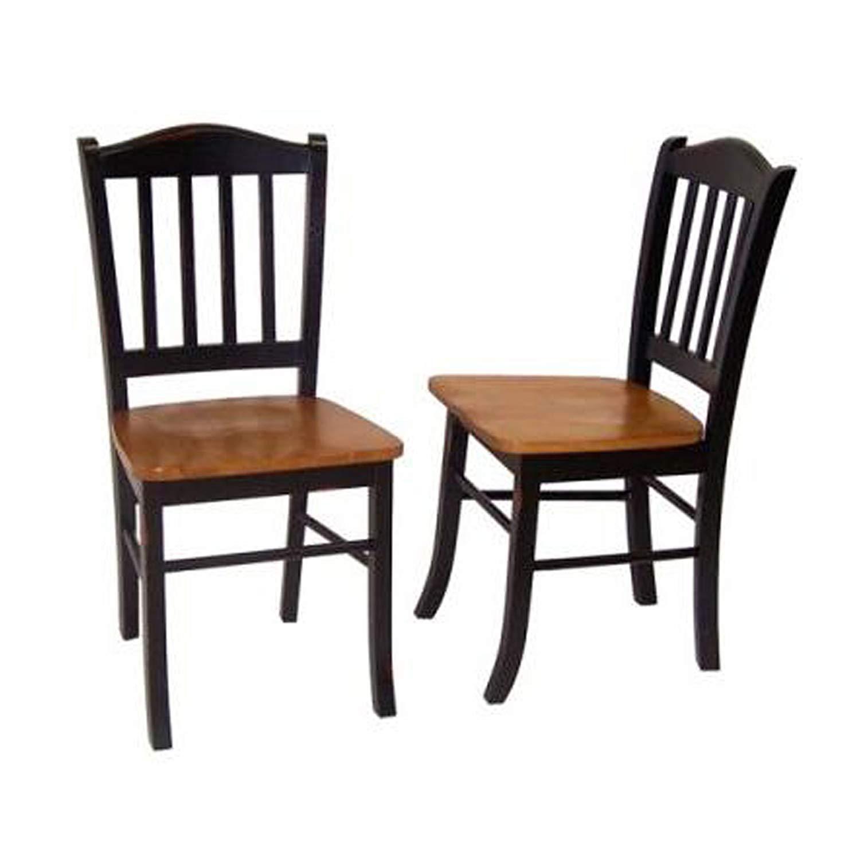 Kitchen Chairs amazon.com: boraam 30536 shaker chair, black/oak, set of 2: kitchen u0026 dining XDDPGRF