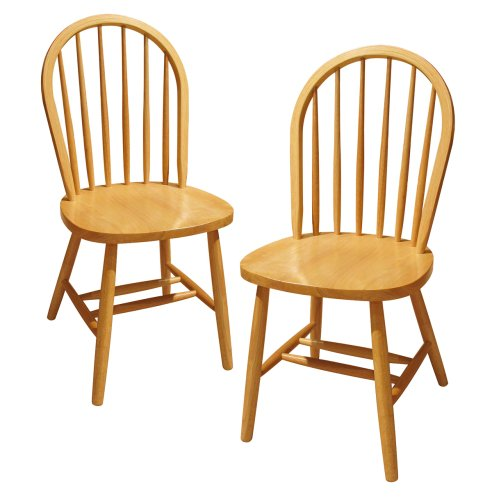 Kitchen Chairs amazon.com - winsome wood windsor chair, natural, set of 2 - chairs WRXUVSQ