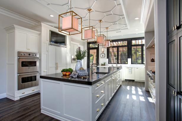 Kitchen flooring options white transitional chefu0027s kitchen with patterned ceiling LTAGRSA