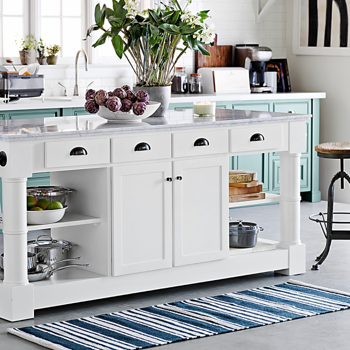 kitchen rugs riviera stripe kitchen rug   williams sonoma HAXTCBN