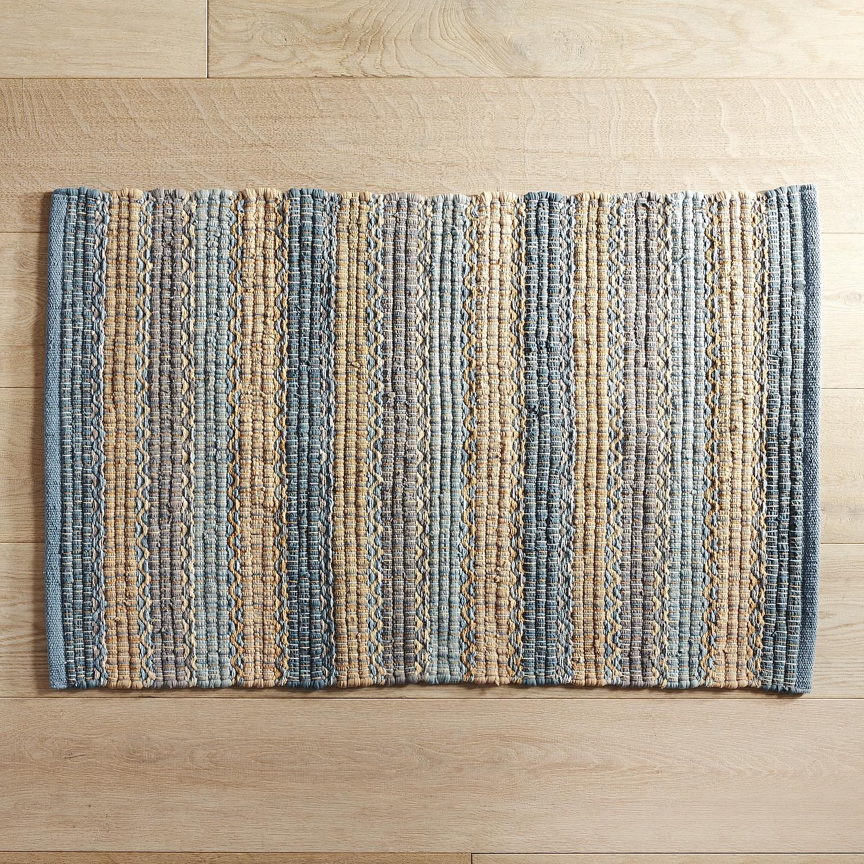 kitchen rugs tuscany striped blue 2x3 rug XTQBNAT