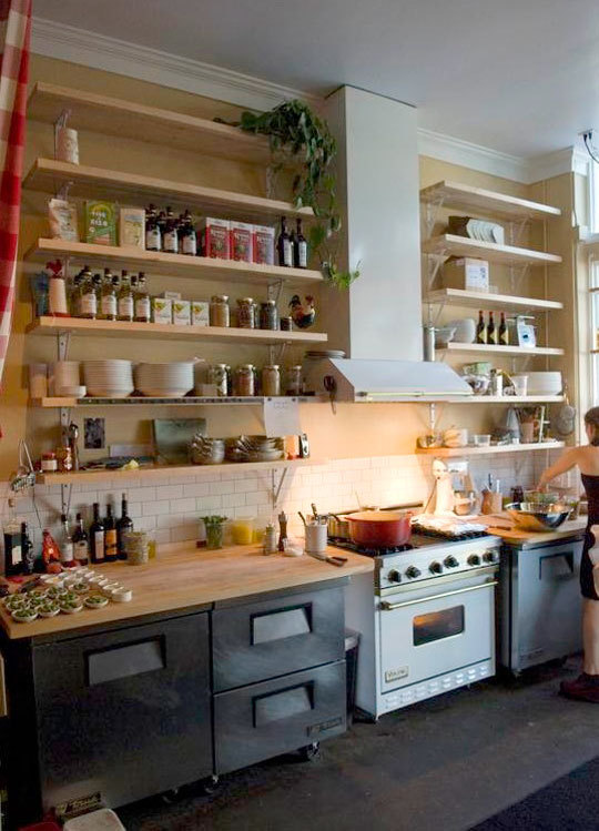 Kitchen Shelving great open kitchen shelving that will inspire you | apartment therapy FMYKLPE
