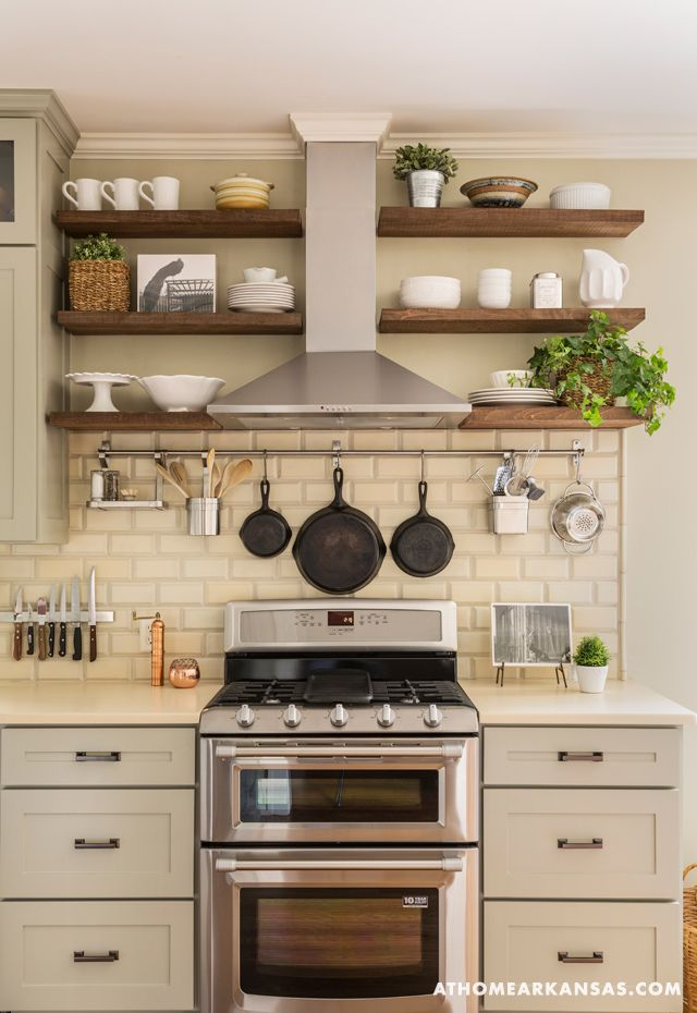 Kitchen Shelving making an inherited house feel like home | pinterest | shelving, hoods and ZQOFXDC