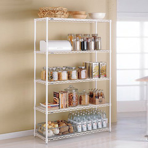 Kitchen Shelving metal kitchen shelves - intermetro kitchen shelves | the container store UJEVLCL