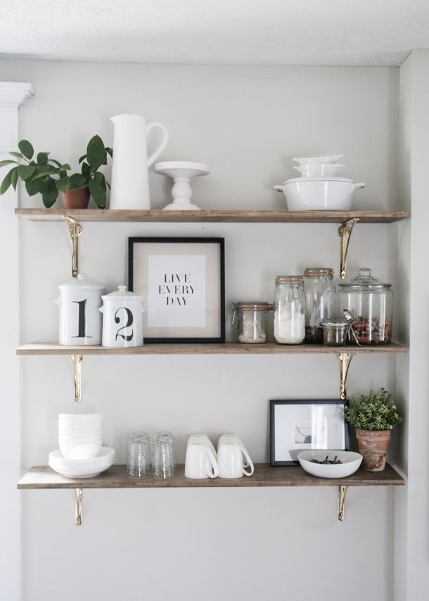 Kitchen Shelving open shelving in the kitchen is one of my favorite trends around. here MSRHUFQ