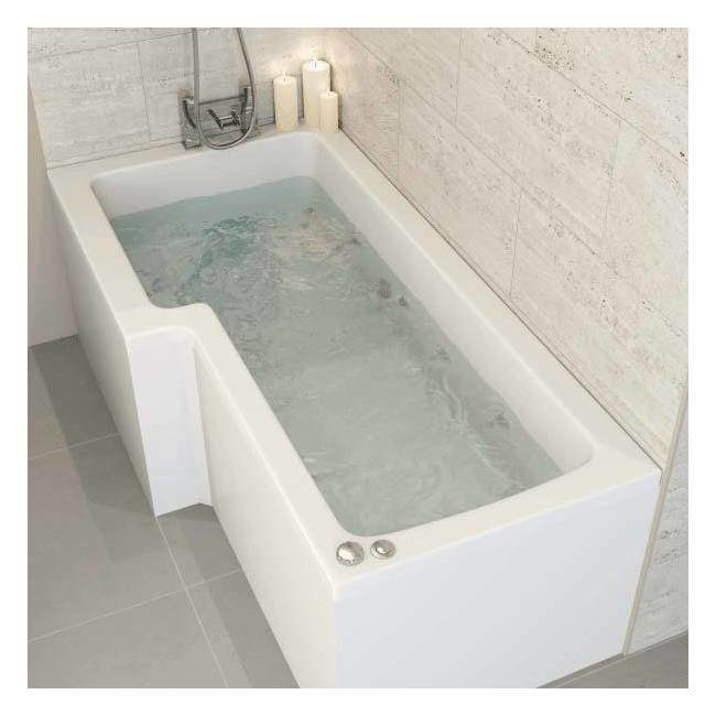 L shaped bath ceramica left handed l shaped bath 1700mm with 8 jet whirlpool RUGMRQN