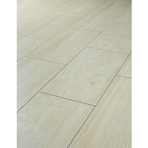 laminate floor tiles wickes travertine tile effect laminate flooring - 2.5m2 pack LOTPAKY