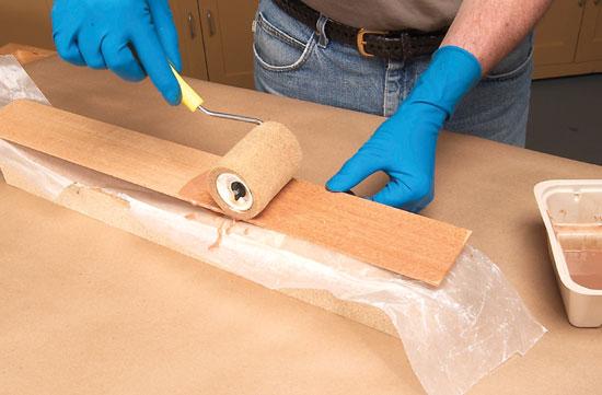 laminating wood foam rollers speed glue-up URWWLXX