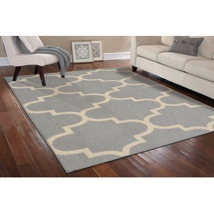 Large Area Rugs large quatrefoil gray/ivory area rug FCGRZEM