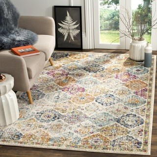 Large Area Rugs safavieh madison bohemian cream/ multi rug – 12u0027 … ZPDVRXB