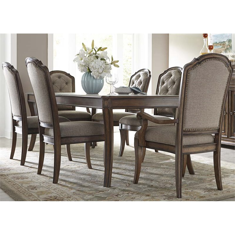 liberty furniture amelia 7 piece dining set in antique toffee APKSBMT