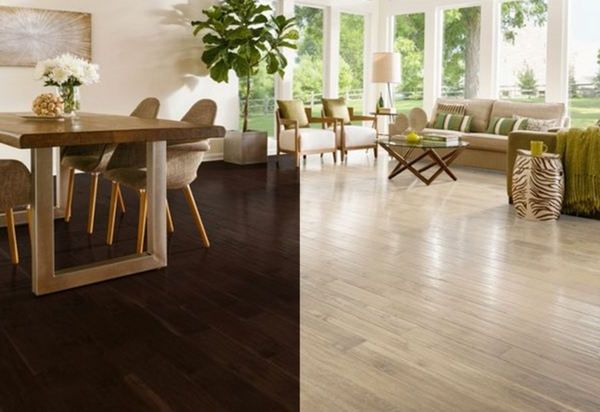 light hardwood floors dark vs light hardwood flooring pros and cons QXXJXDF