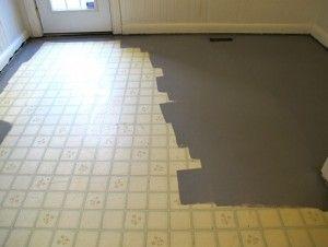 linoleum flooring painting linoleum floor with grey EXRGNRO