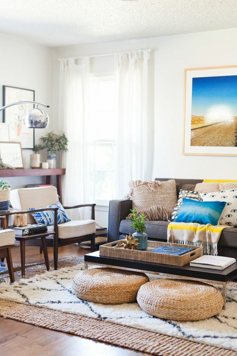 living room rug rules | rug placement | rug size guide KTXFQOY