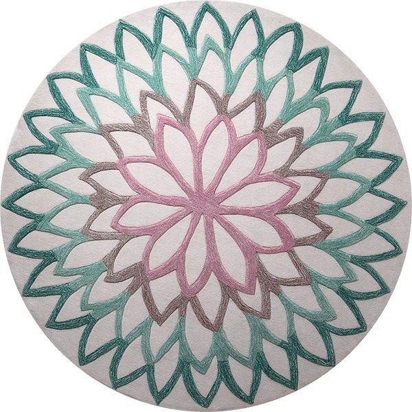 lotus flower circular rugs 4007 04 by esprit - free uk delivery - HSUJDOM