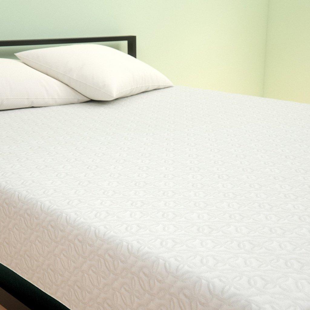 memory foam matress angle overhead shot of gel memory foam mattress DDQCOKF
