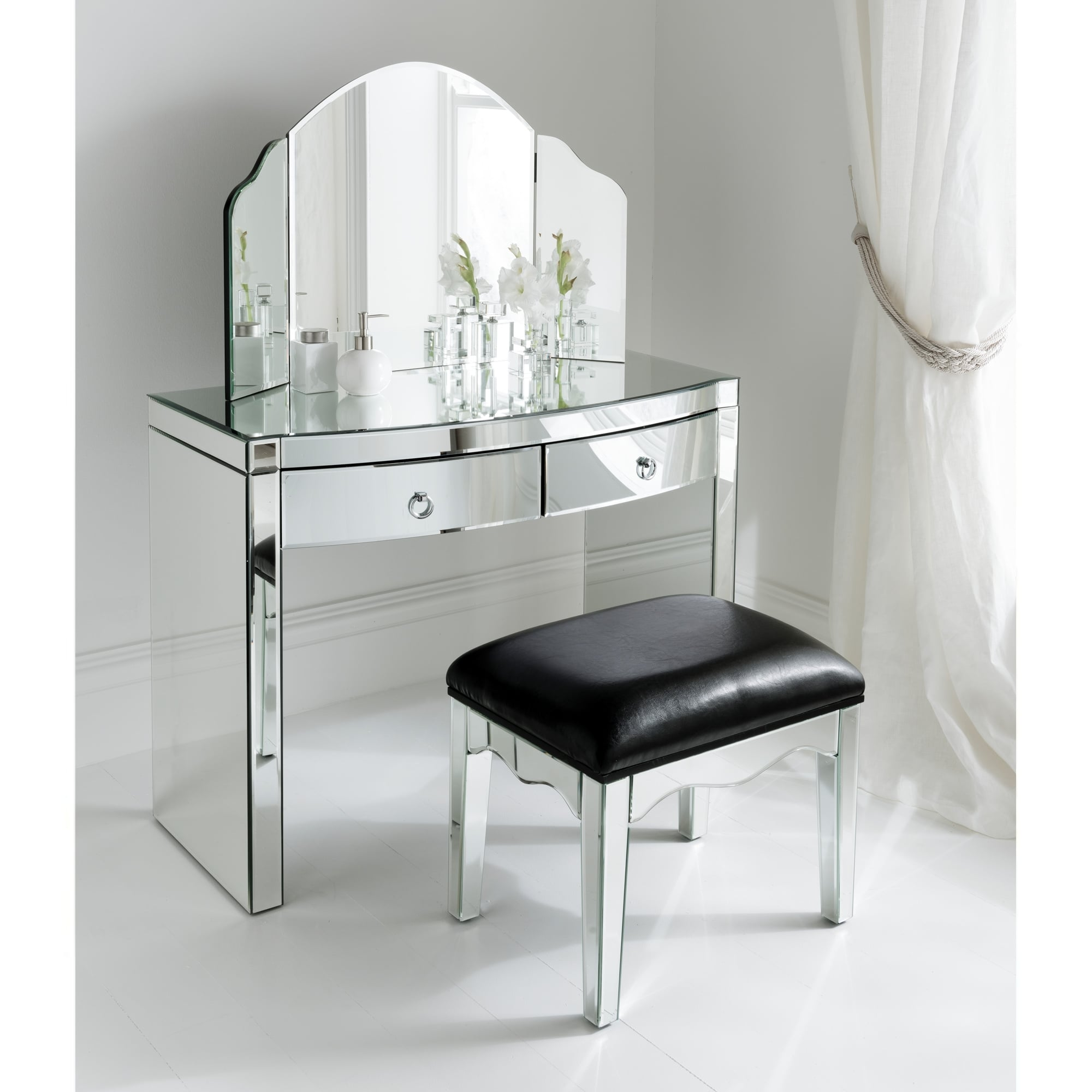 Mirrored Dressing Table florence mirrored dressing table set FSAJJAN