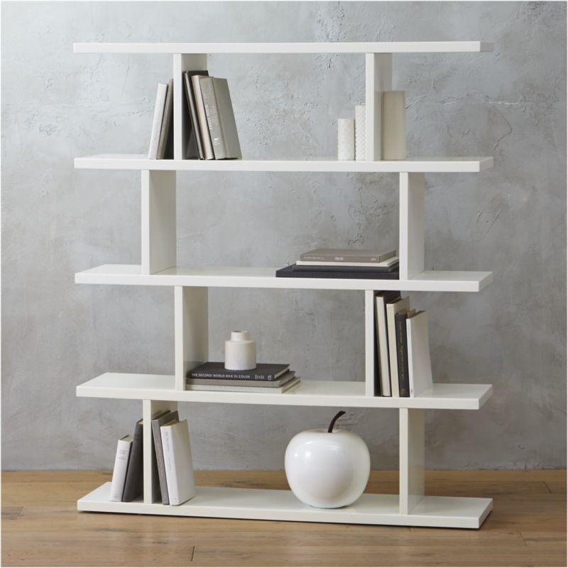 Modern Bookshelf 3.14 modern white bookcase + reviews | cb2 JGNDLAQ